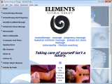 Screenshot of the Elements Natural Therapy website.
