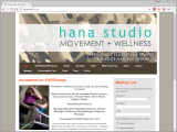 Screenshot of the Hana Studio website.