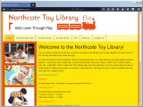 Screenshot of the Northcote Toy Library website.