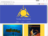 Screenshot of the The Bing Turkby Ensemble website.